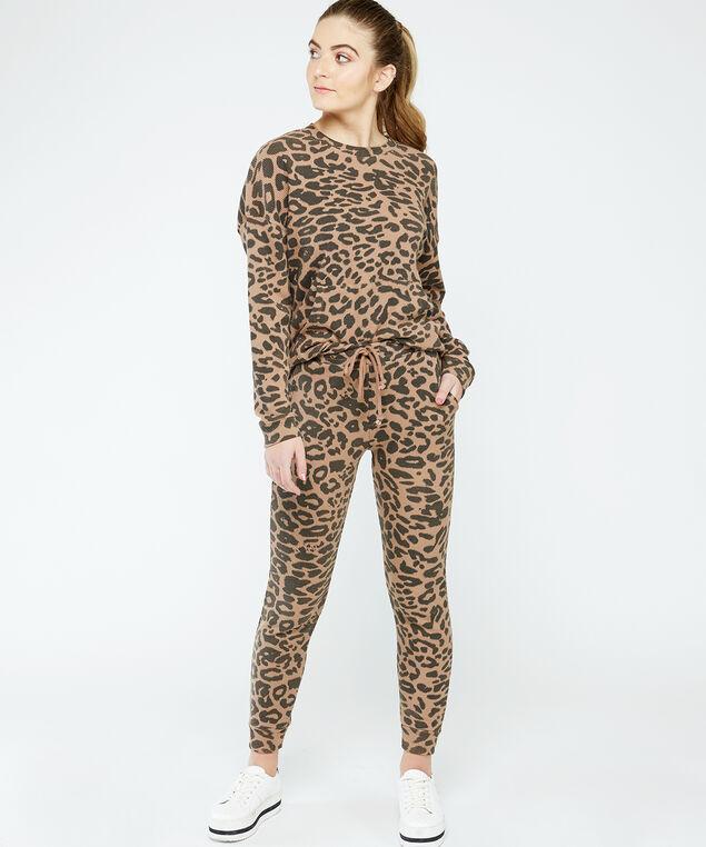 printed jogger - wb, Leopard, hi-res