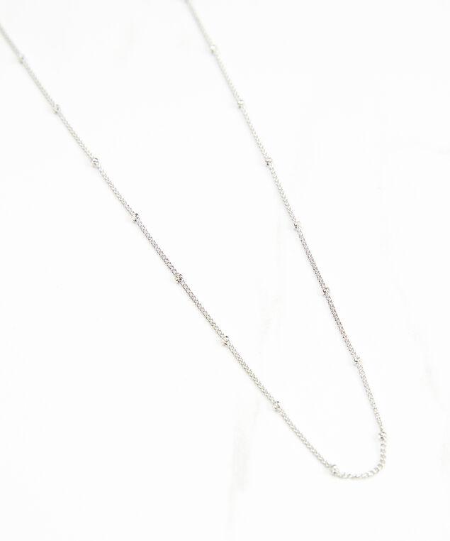 delicate mask chain silver, Silver