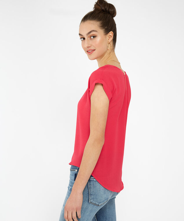 top with back zipper - wb, BERRY PUNCH, hi-res