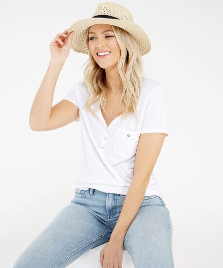 straw panama hat, Natural, hi-res