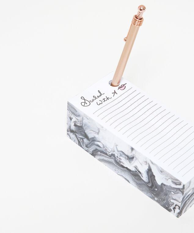 marble block memo set, PINK, hi-res