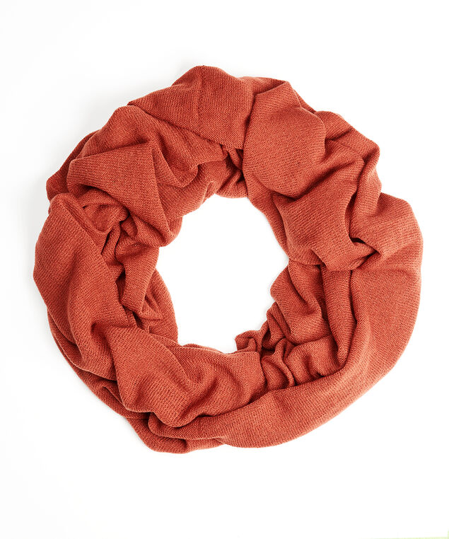 knit infinity scarf, Light Brown, hi-res