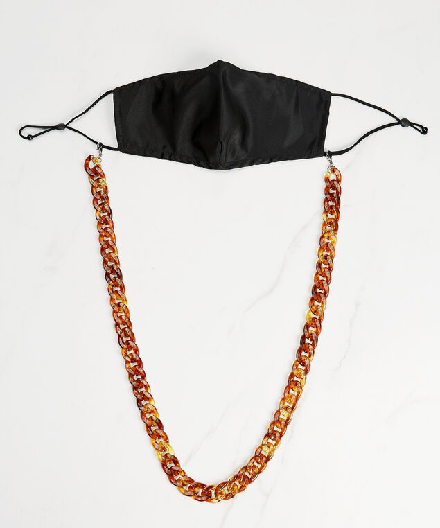 tort resin mask chain, Brown