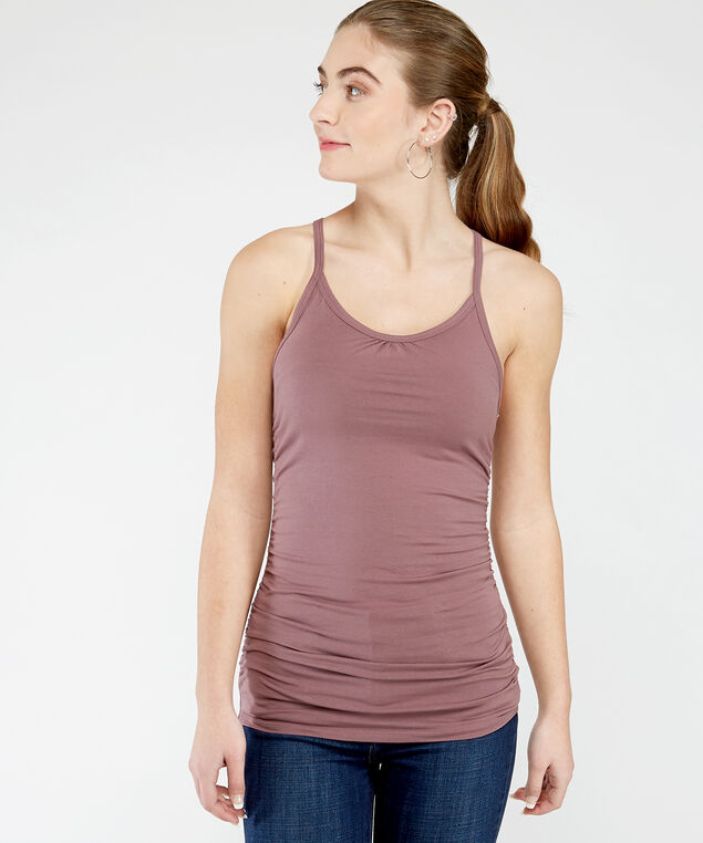 ally ruched st 21, Rose Taupe
