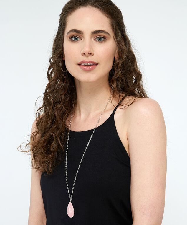 double pendant necklace, GOLD, hi-res