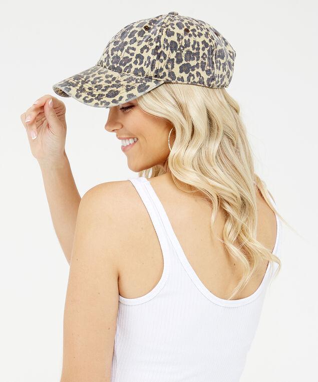 leopard baseball cap, Neutral, hi-res