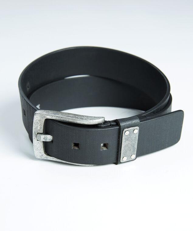 men's leather belt, Black