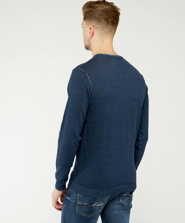 crew neck sweater, Dark Blue