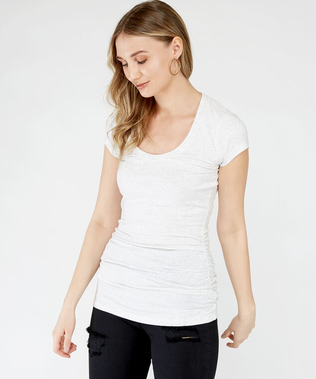 jenny ruched scoop st21, Ivory