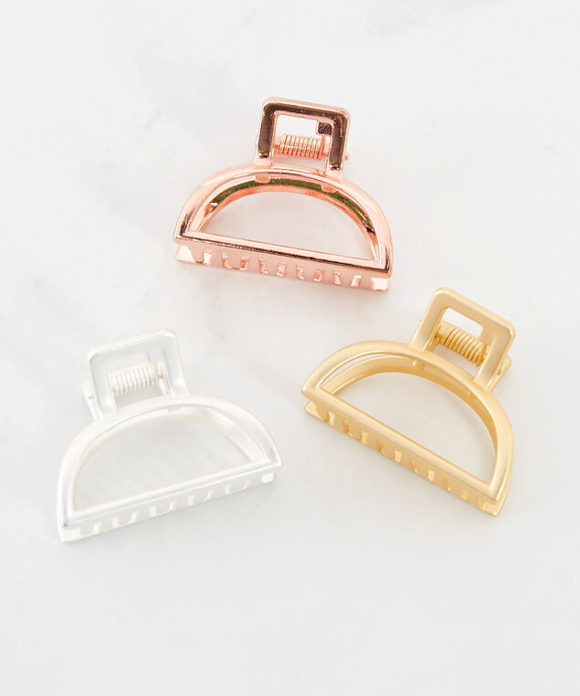 3 pack metallic clips, Assorted, hi-res