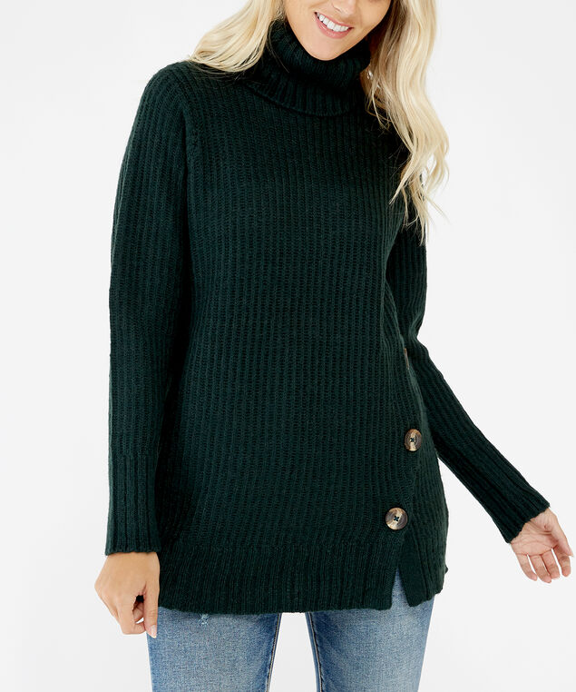 turtleneck sweater - wb, Green, hi-res