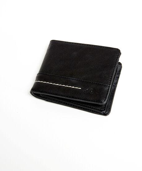 roots vegan leather wallet, Black, hi-res