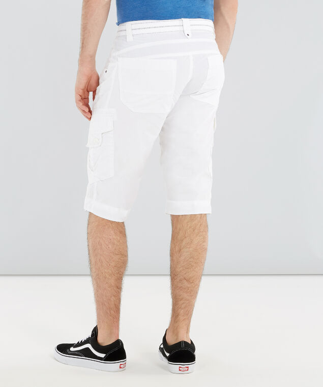 belted ripstop cargo short - wb, WHITE, hi-res
