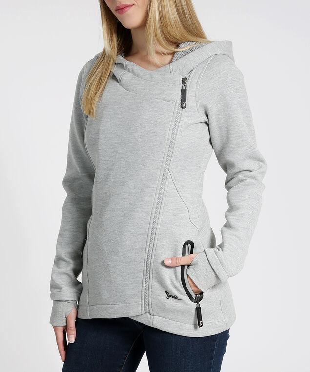 fleece hoodie - wb, HEATHER GREY, hi-res