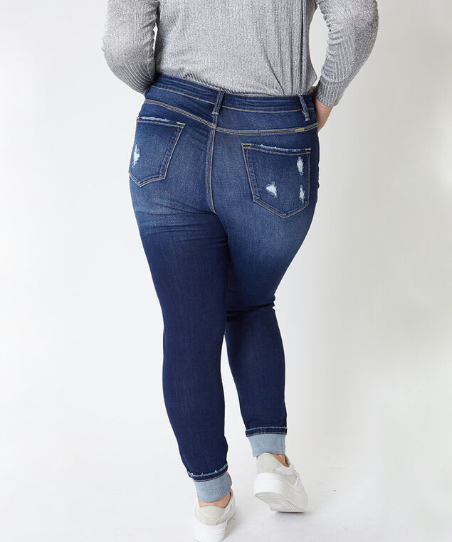 high rise ankle skinny plus size - wb,