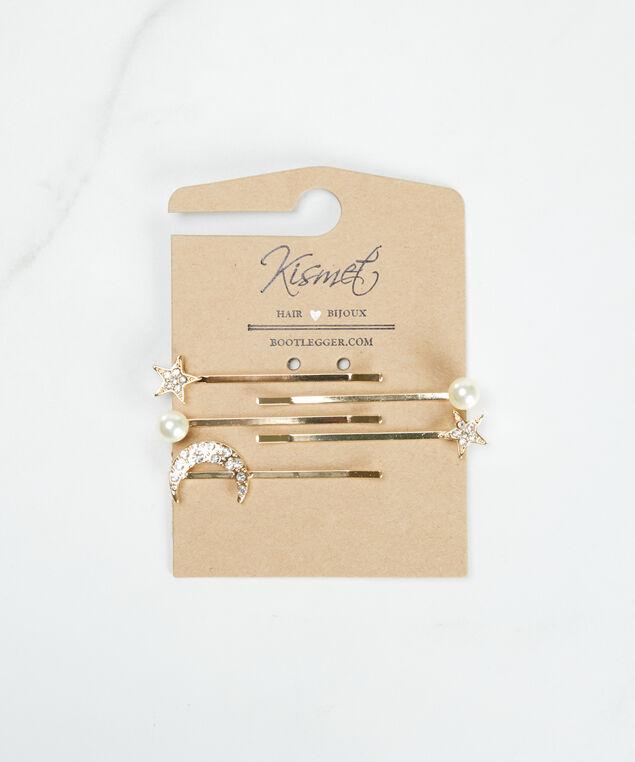 stars and moons hair clip set, Gold