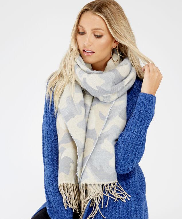 camo blanket scarf, GREY CAMO, hi-res