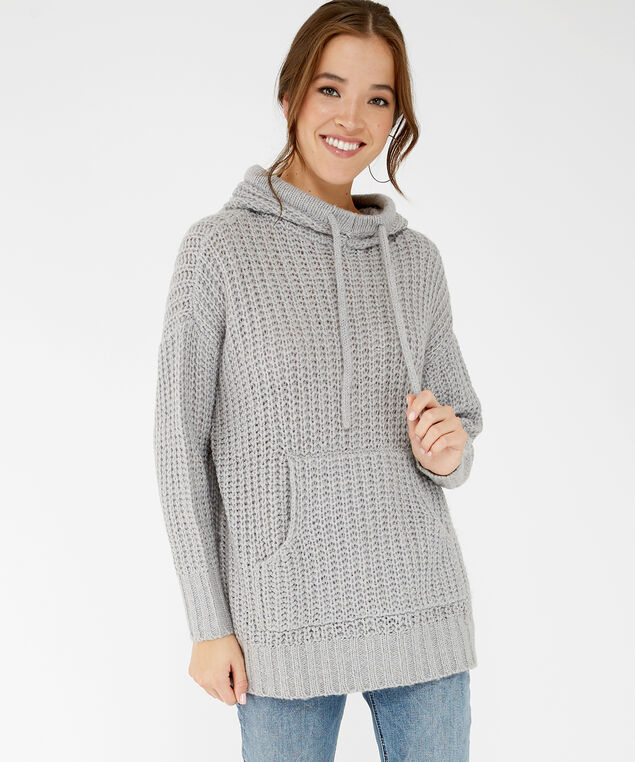 hooded sweater - wb, Grey, hi-res