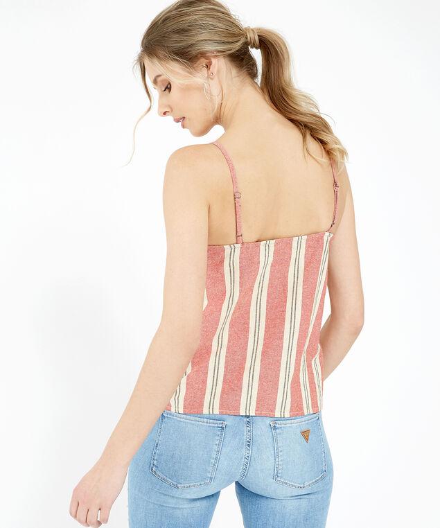 striped button down shirt - wb, SPICE, hi-res