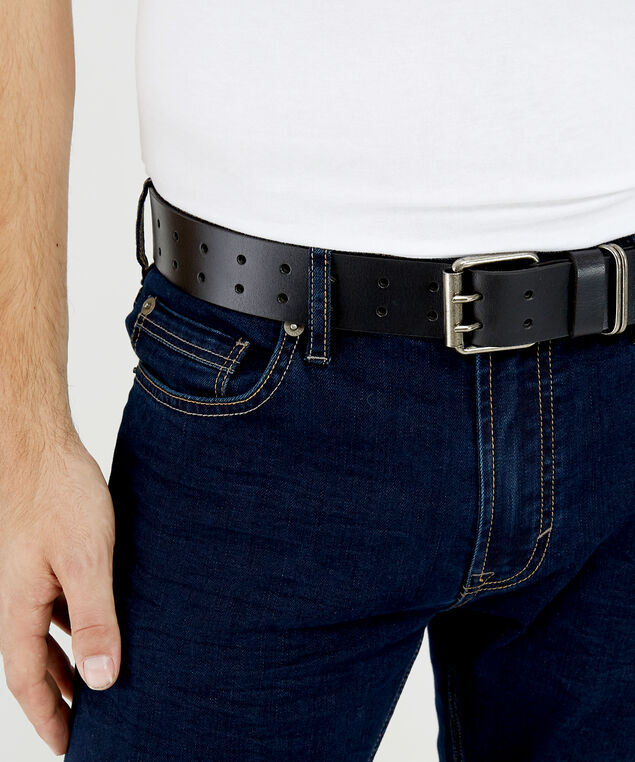 men's silver belt, Black, hi-res
