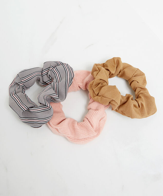 3 pack hair scrunchies, Assorted, hi-res