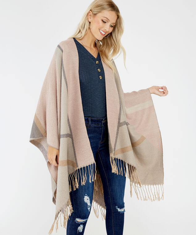 fringe cape, ROSE, hi-res