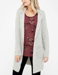 long cardigan with front pockets - wb