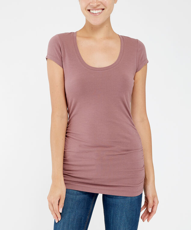 jenny ruched scoop f19, ROSE TAUPE, hi-res