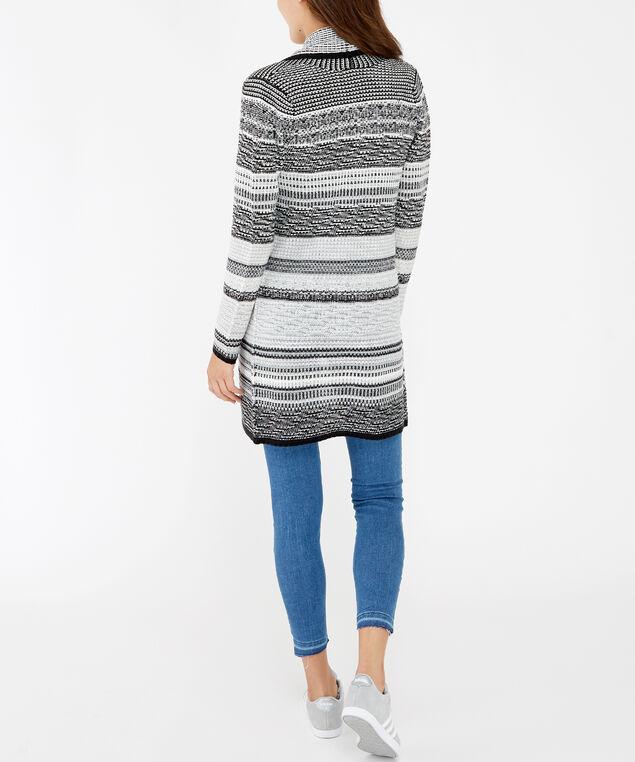 shawl collar cardigan - wb, Black, hi-res
