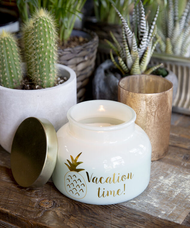 vacation time candle, LIGHT GREEN, hi-res