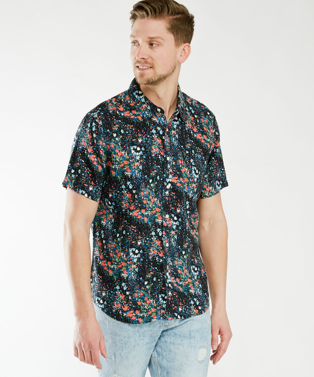 sunset shirt - wb, Spacey Flower