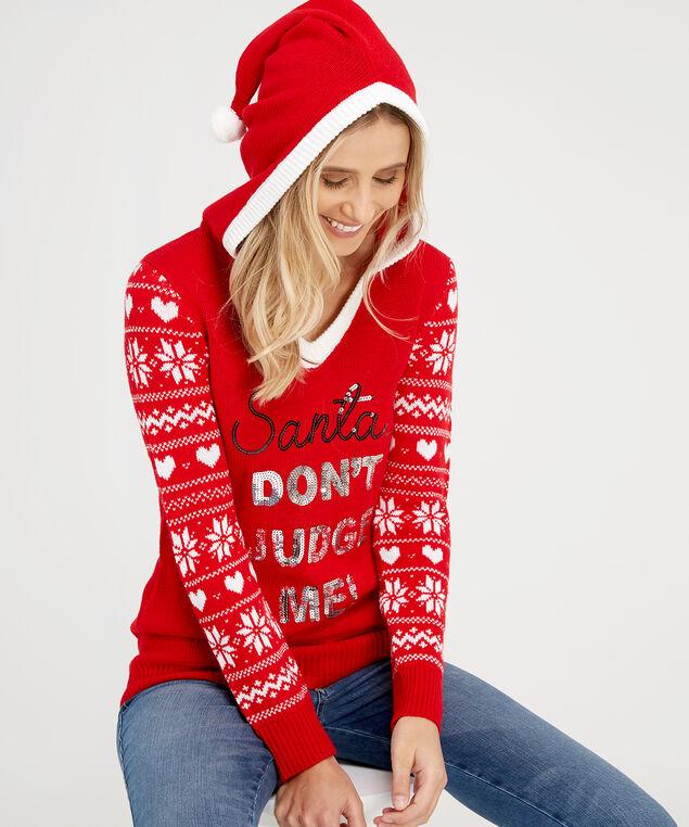 santa sweater - wb, RED, hi-res