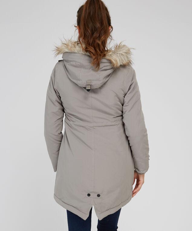 anorak with fleece plaid lining - wb, DARK  BEIGE, hi-res