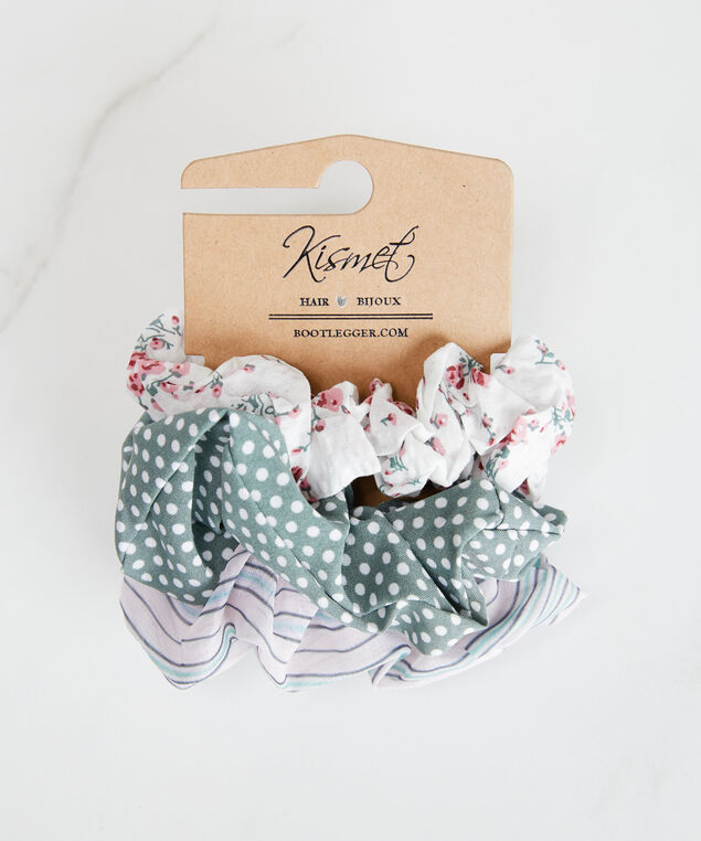 3 pack scrunchies, Pink Pattern