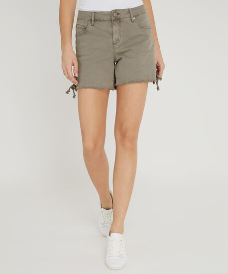 side lace up short - wb, OLIVE, hi-res