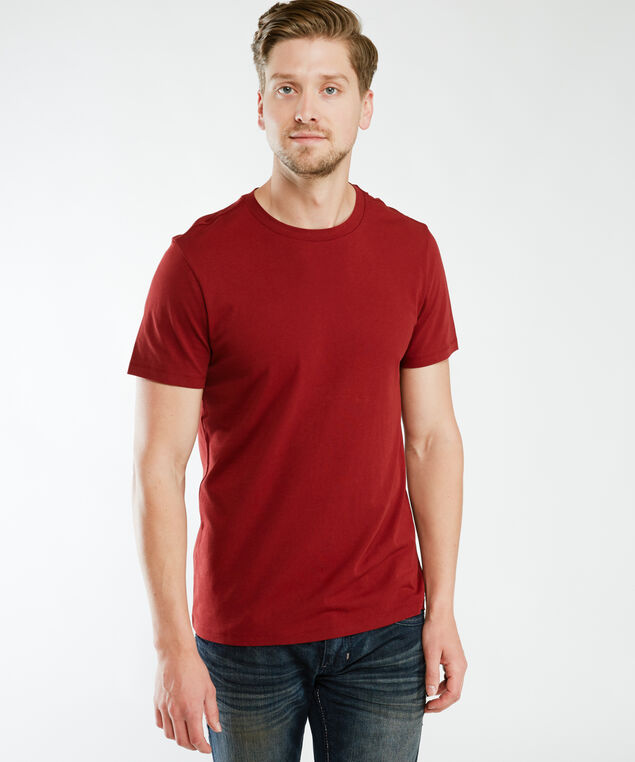 owen crew neck, Dark Red