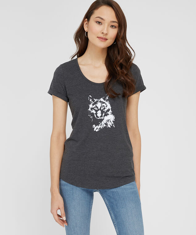 wolf graphic, HEATHER GREY, hi-res