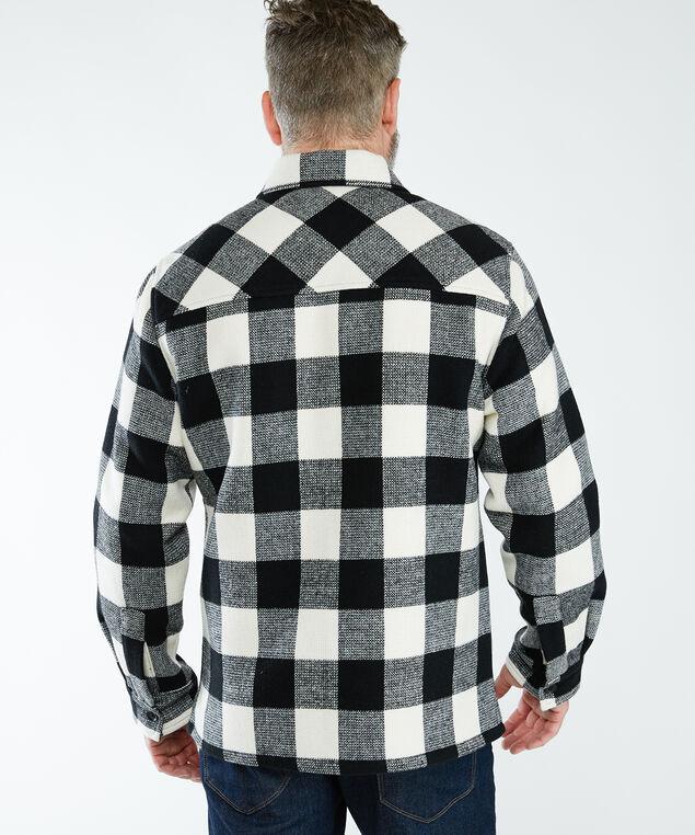 buffalo check jacket, Cream/Black