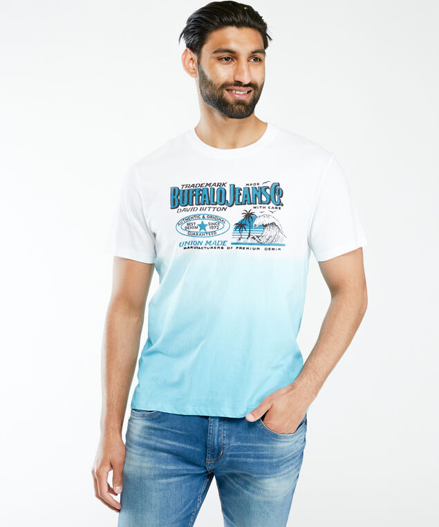 buffalo jeans branded t-shirt, White Blue Combination