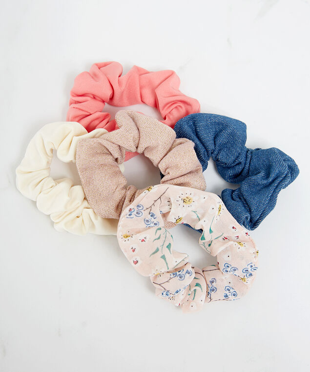 5 pack of scrunchies, Assorted, hi-res