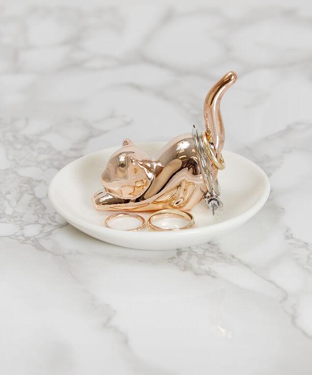 rose gold kitty trinket dish - wb, ROSE GOLD, hi-res