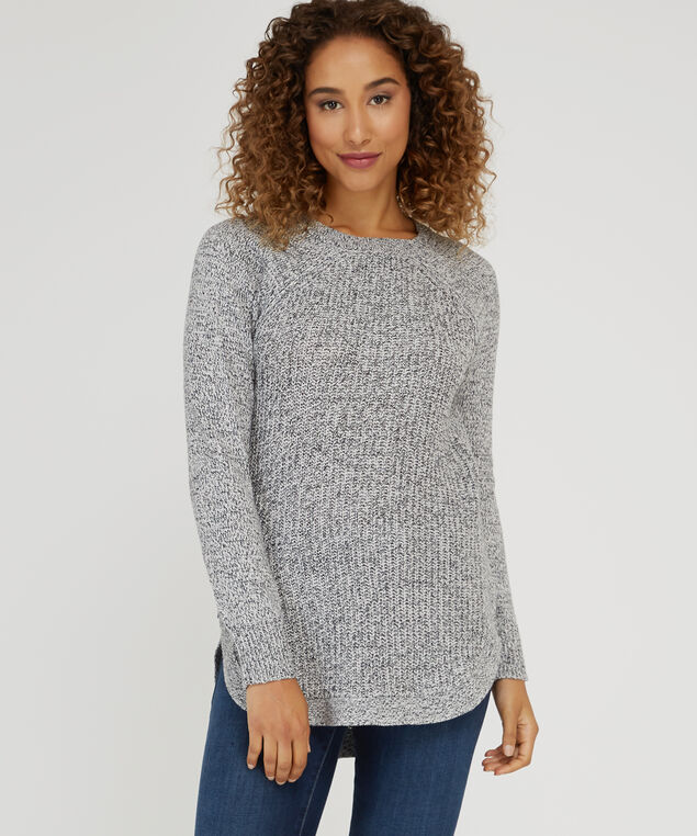 sweater with side zipper - wb, PEARL, hi-res