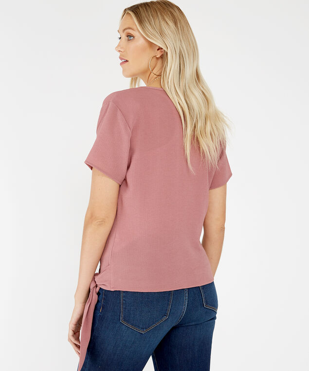 wrap front blouse - wb, Rose, hi-res