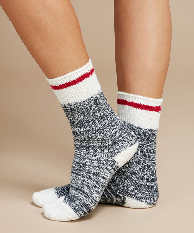 women's cabin crew socks, CHARCOAL MIX, hi-res