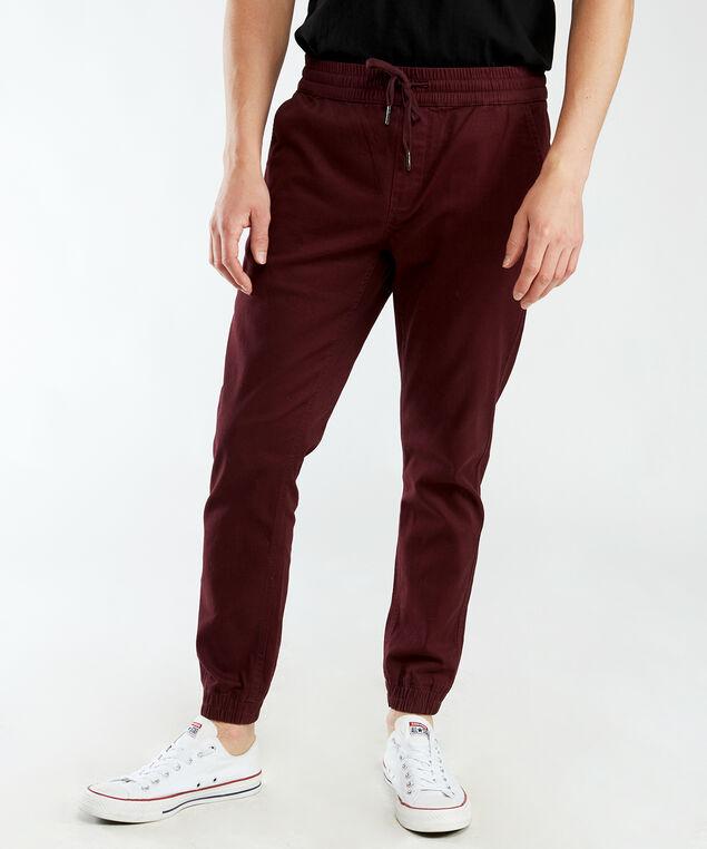basic jogger, Burgundy