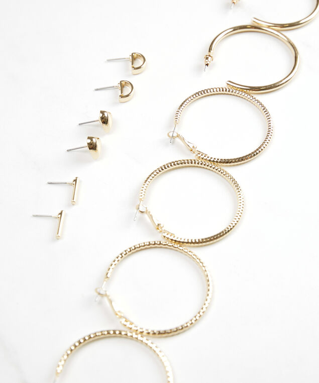 studs and hoops multi pack, Gold