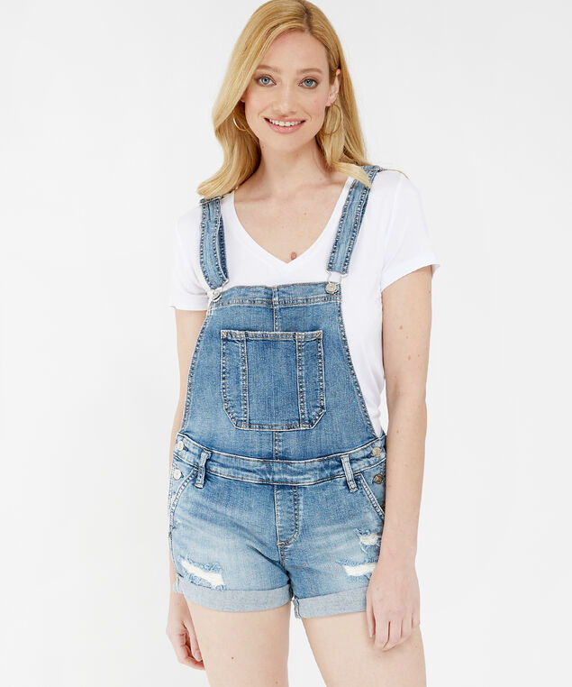 overall shorts sjl266, Denim, hi-res