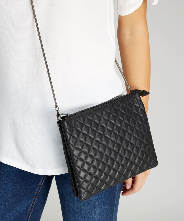 quilted convertible body bag - wb, BLACK, hi-res