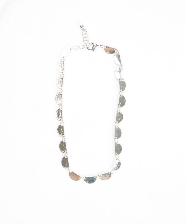 half circle pendant anklet, Silver