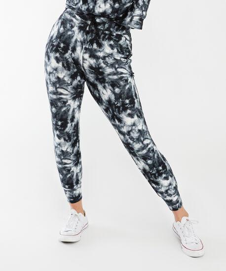arya jogger, Black and White Tie Dye, hi-res